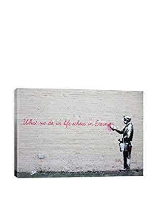 Banksy What We Do In Life Echoes In Eternity Giclée On Canvas
