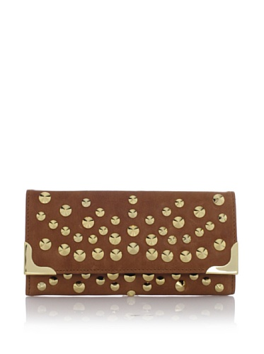 Be & D Women's Kansas Studded French Wallet (Honey Bisque)