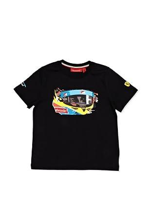 Ferrari Camiseta Alonso Visor (Negro)