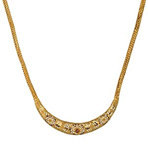 Pearl Paradise Golden Chain type Princess Necklace for Women