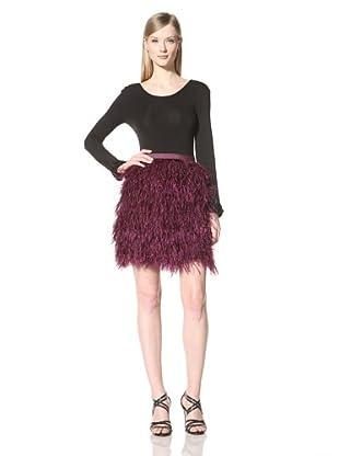 Pink Tartan Women's Oliviana Ostriche Skirt (Plum)
