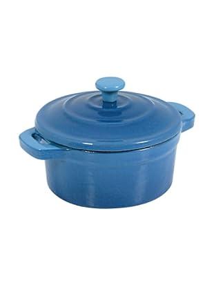 Tradifonte Mini-cocotte de hierro fundido esmaltada azul