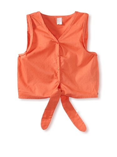 O'Neill Girl's 7-16 Comet Woven Sleeveless Top (Hot Coral)