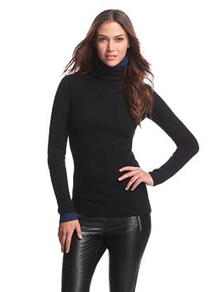 adidas Y-3 by Yohji Yamamoto Women's Turtleneck Sweater (Black/Navy)
