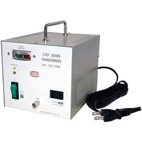 【クリックで詳細表示】日章工業 トランスフォーマSDXシリーズ(電圧ダウン)110V/120V→100V1500W SDX-1500U: ホーム&キッチン