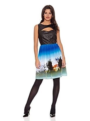 Rare London Vestido Wanda (Negro / Azul)
