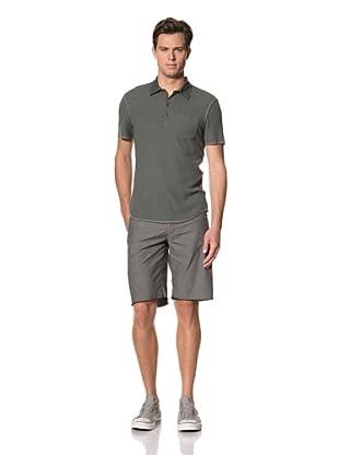 John Varvatos Star USA Men's Short Sleeve Waffle Polo Shirt (Oxide)