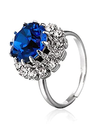 SWAROVSKI ELEMENTS Anillo Saton Azul