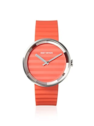 Issey Miyake Men's SILAAA03 Please Orange Stainless Steel Watch