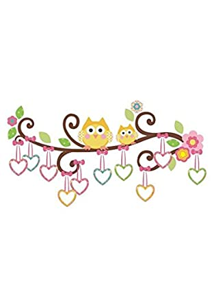 Ambiance Sticker Wandtattoo Owls And Hearts On A Tree