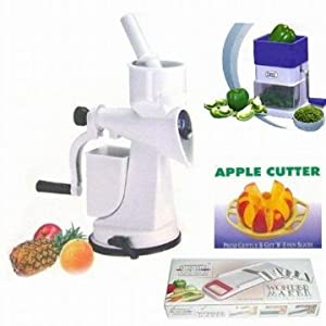 Saleshop365 Kitchen Combo - Juicer + Apple Cutter + Slicer + Chilly Cutter