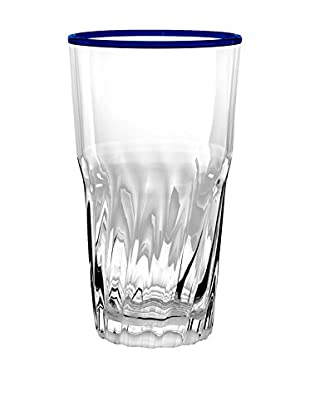 Cantina Acrylic Double Old Fashioned Glass, Clear/Blue