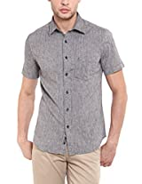 Classic Polo Men Cotton Grey Half Sleeve Shirt