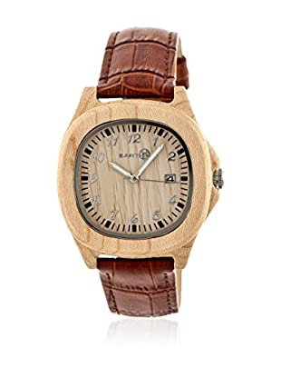 Earth Reloj con movimiento cuarzo japonés Unisex Sherwood Marrón 40 mm