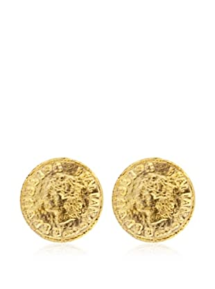 Silver One Pendientes Moneda Oro