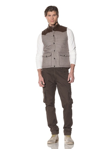 Shades of Grey by Micah Cohen Men's Quilted Vest (Brown)