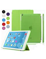 Elite Ultra Thin Smart Flip Foldable Flip Case cover Apple iPad Air 2 (iPad 6) Tablet with Glittering stylus (Sleep/wakeup) (Green)