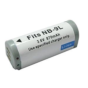 ≪キャノン≫ NB-9L 互換バッテリ- IXY 50S 対応