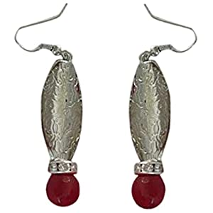 The Desi Soul German Silver with Maroon Agates