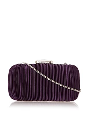 Jessica McClintock Women's Satin Pleated Minaudiere (Purple)