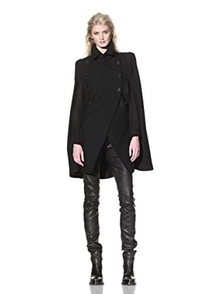 Ann Demeulemeester Women's Double-Breasted Cape (Black)