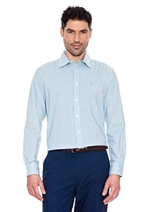 Pedro Del Hierro Camisa Estampado Geométrico (Azul Claro)