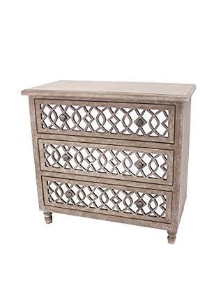 Teton Home 3-Drawer Wood Cabinet, Brown