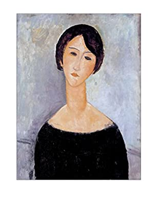 Artopweb Panel Decorativo Modigliani Woman In Black 80x60 cm Multicolor