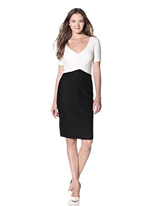 NUE by Shani Women's Ruched Dress (Black/ivory)