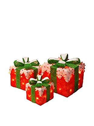 National Tree Company Red Sisal Gift Boxes