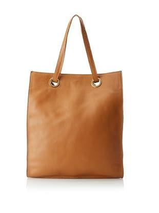 Laura Vela Women's Trope Paper Bag Tote, Camel
