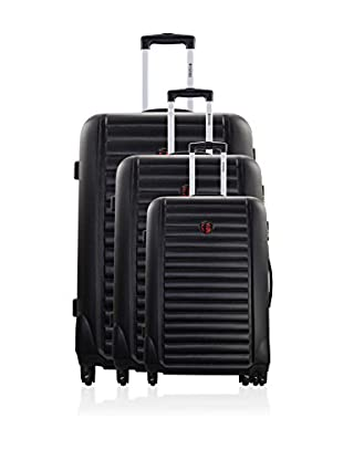GEOGRAPHICAL NORWAY Set de 3 trolleys rígidos Stockolm