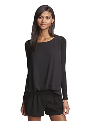 LoLa & Sophie Women's Blouson Top (Black)