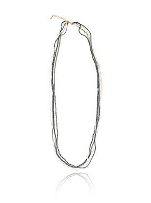 Cortefiel Collar Piedras Diferentes Tipos (Azul Marino)
