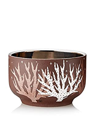 Waylande Gregory Tree Of Life Small Chubby Bowl, Brown/Platinum