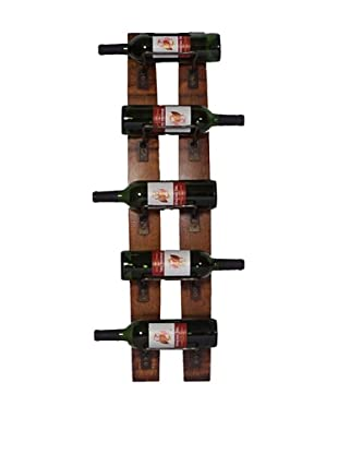 2 Day Designs 5 Bottle Wall Rack
