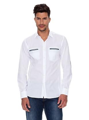 Caramelo Camisa Clásica (Blanco)