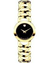 Movado Rondiro Analogue Black Dial Women's Watch - 606253
