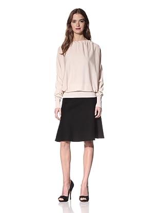 NINA RICCI Women's Silk Open Back Sweater (Beige)