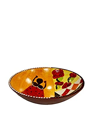 Asian Loft Hand-Painted Swaziland Wooden Baby Bowl, Multi