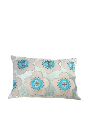 Filling Spaces Hand Appliqué Pillow, Blue