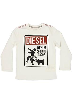 Diesel Kid Longsleeve Tenestok (Weiß)