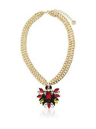 MAIOCCI Collar Dorado / Rojo