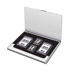 【クリックで詳細表示】Digio2 SD・microSDカードケース(丈夫なアルミ素材) シルバー MCC-1000SL