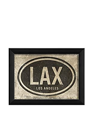 The Artwork Factory LAX Los Angeles Print, Black/White