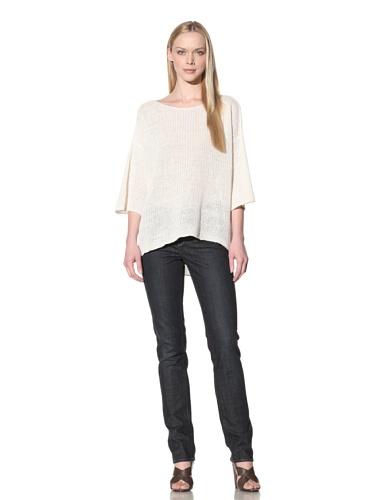 Cullen Women's Hi-Lo Boat Neck Sweater (Ivory)