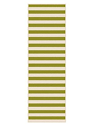 Universal Rugs Garden City Indoor/Outdoor Transitional Runner, Green, 3' x 8'