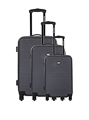 Bag Stone Set de 3 trolleys rígidos Dream Gris 66 cm