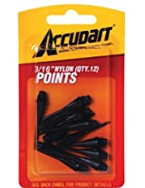 Accudart Card 3/16-Inch Nylon Points - 60 count