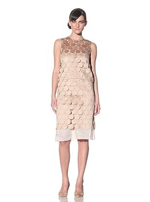 MARNI Women's Macrame Sleeveless Disk Dress (Tan)